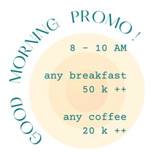 Muse Cafe & Art Ubud Bali Breakfast Coffee Promo Menu